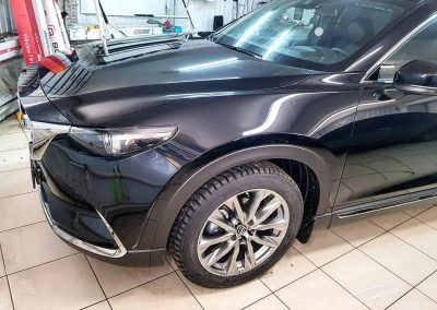 Mazda CX-9 — выполнили комплексное бронирование полиуретановой пленкой Hexis Bodyfance