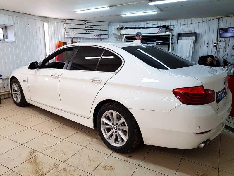 BMW 5 серии F10 — тонировка стекол пленкой NDFOS 95%