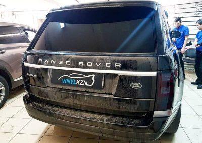 Range Rover Vogue — бронирование фар полиуретановой пленкой Stek c тонирующим эффектом