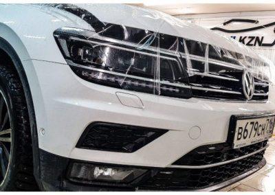 VW TIGUAN — бронирование капота пленкой Hexis Bodyfance