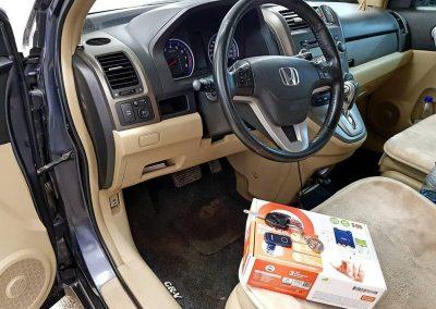 Установлена сигнализация с управлением с телефона Starline S96 BT GSM на автомобиль Honda CRV