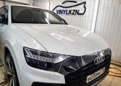 Audi Q8 — забронировали часть капота полиуретановой пленкой Hexis Bodyfance