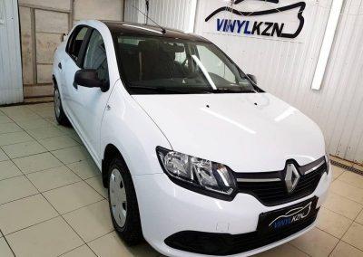 Renault Logan — оклейка автомобиля для такси