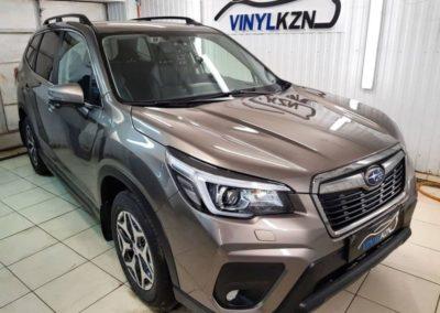Subaru Forester — забронировали полиуретановой пленкой капот, фары, птф, под ручками, пороги