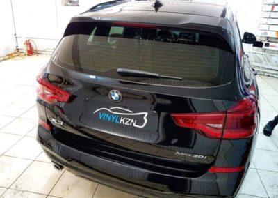 BMW X3 — тонировка стекол пленкой Llumar 65%, бронирование оптики пленкой Stek
