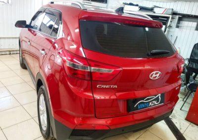 Бронирование порогов, погрузочной зоны, зоны под ручками и тонировка стекол автомобиля — Hyundai Creta