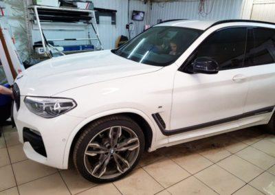 BMW X3 — тонировка боковых стекол пленкой UltraVision 65%