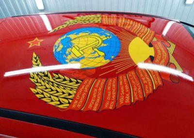 Печать с ламинацией — оклейка крыши автомобиля Ford Focus 3