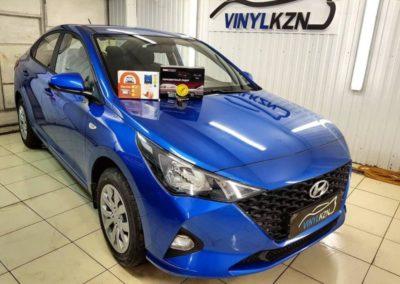Новый Hyundai Solaris — бронирование кузова, установка автосигнализации StarLine A93, установка парктроников