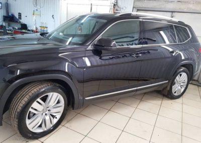 VW Teramont — полировка всего кузова в два этапа, покрытие кузова гидрофобным керамическим составом