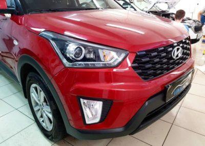 Hyundai Creta — бронирование погрузочной зоны багажника, под ручками и фар