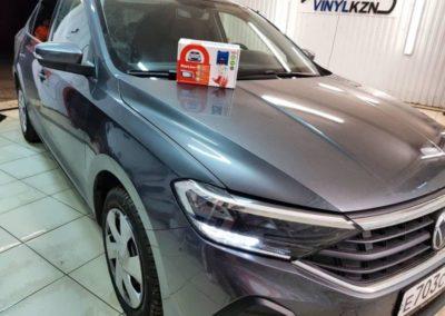 VW POLO 2020 — установили охранный комплекс с автозапуском Starline A93, тонировка стекол ULTRAVISION SUPREME THERMO