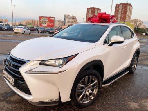 Lexus NX — профессиональная оклейка автомобиля пленкой белый сатин