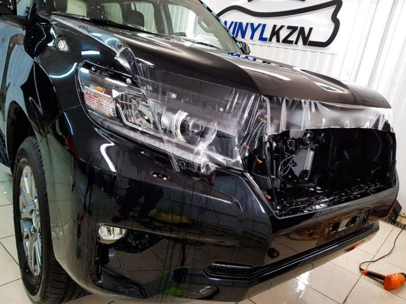 Toyota Land Cruiser Prado  — комплексное бронирование передней части кузова полиуретановой пленкой