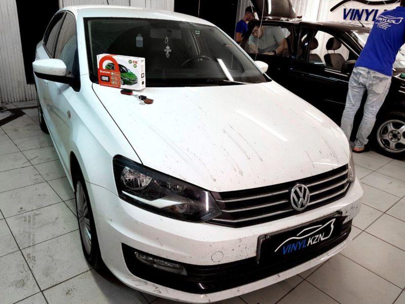 VW Polo — установили автосигнализацию Starline E96 BT Eco