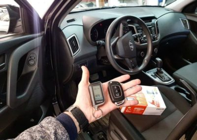 Hyundai Creta — установили автосигнализацию с автозапуском Starline A93 2 can-2 lin