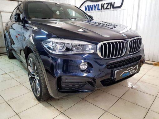 BMW X6 — забронировали капот, бампер, зеркала полиуретановой  пленкой, задние фонари пленкой Stek