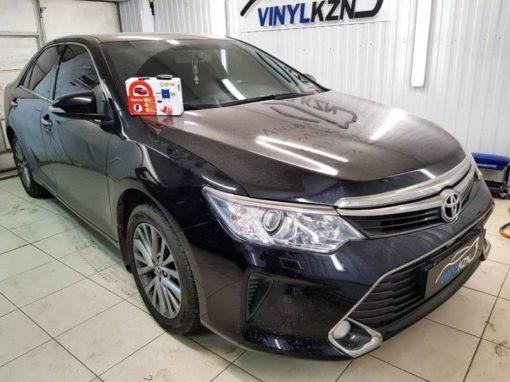 Toyota Camry — установили охранный комплекс с автозапуском и управлением с телефона Starline S96 BT GSM