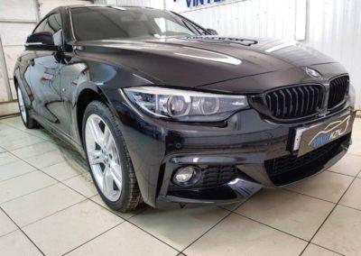 BMW 4 Grand Coupe — бронирование кузова антигравийной полиуретановой пленкой, тонировка стекол пленкой Llumar ATR