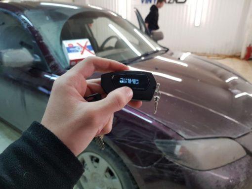 Установили автосигнализацию с автозапуском Pandora DX 9X на Mazda 3