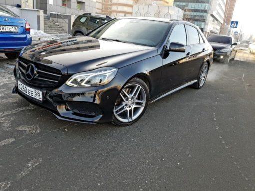 Восстановительная полировка кузова, полный антихром, покрытие керамическим составом — Mercedes E Class