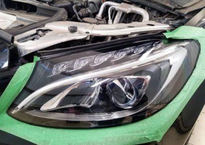 Полировка и бронирование фар Mercedes C class W205