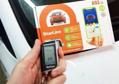 Установили автосигнализацию с автозапуском Starline A93 на Hyundai Solaris