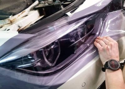 Бронирование пленкой Stek фар BMW 3 серии
