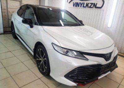 Toyota Camry — бронирование переднего, заднего бампера и зеркал полиуретановой пленкой