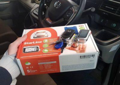 Honda Stepwgn — установили сигнализацию с автозапуском Starline A93