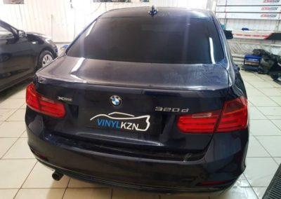 Тонировка стекол автомобиля BMW 320D пленкой UltraVision
