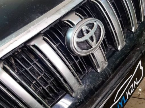 Toyota Land Cruiser Prado — установка защитной сетки радиатора
