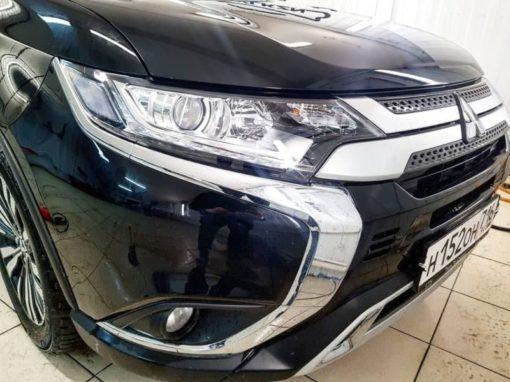 Бронирование передних фар Mitsubishi Outlander с гарантией!