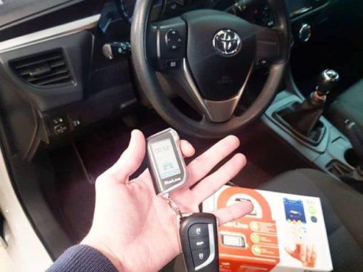 Установка сигнализации с автозапуском на Toyota Corolla