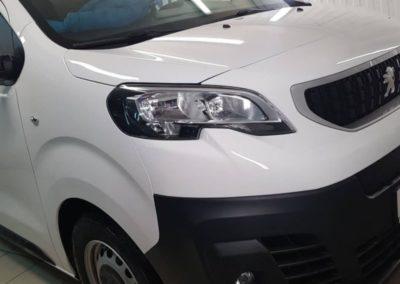 Забронировали капот, фары , зоны под ручками, рамку лобового стекла и зоны риска — Peugeot Expert