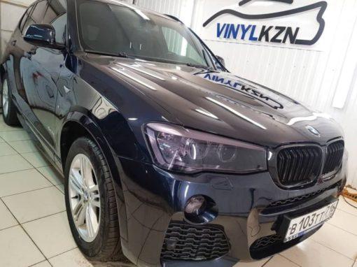 BMW X3 — полировка капота и бронирование полиуретановой пленкой