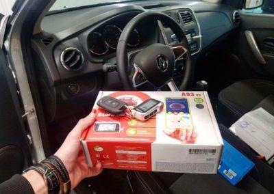 Установили Starline A93 и камеру заднего вида на Renault Logan