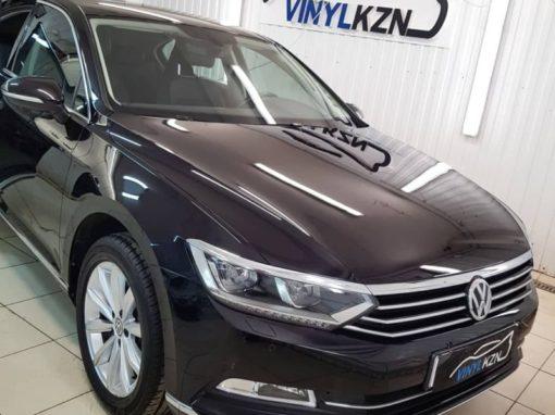 VW Passat — полировка кузова, нанесение керамического состава, тонировка стекол атермальной пленкой  UltraVision