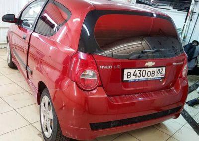 Chevrolet Aveo T250 — затонировали красной пленкой с переходом