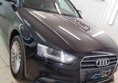 Audi A4 — тонировка стекол атермальной пленкой Solarnex Crystal 20% затемнения