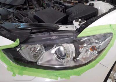 Полировка и бронирование фар автомобиля Mazda 6