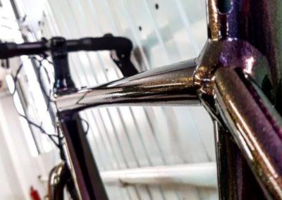 Оклеили дорогостоящую раму велосипеда полиуретановой пленкой толщиной в 200 микрон