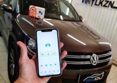 Установили Starline S96 BT GSM на VW TIGUAN