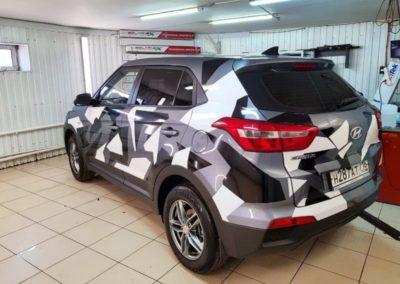 Оклейка кузова автомобиля Hyundai Creta  пленкой