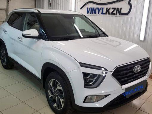 Бронирование кузова автомобиля Hyundai Creta, тонировка задних стекол пленкой UltraVision SUPREME THERMO