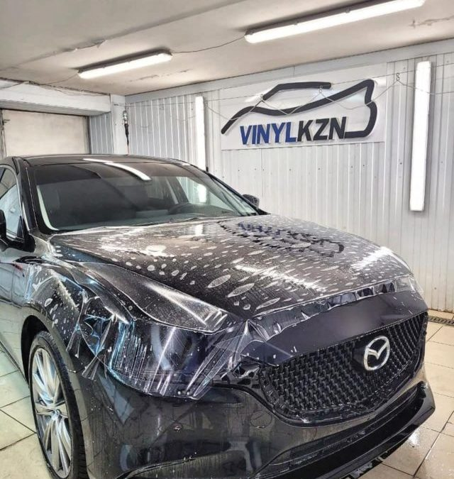 Mazda 6 — передняя часть и зоны риска оклеены полиуретановой пленкой