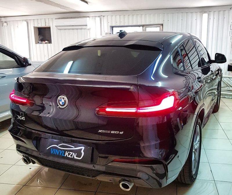 BMW X4 — затонировали заднюю часть пленкой премиум качества Llumar ATR