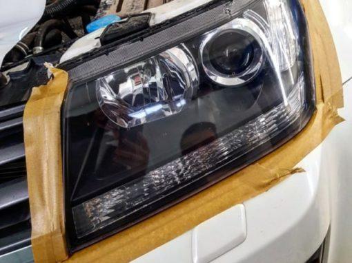 Полировка фар Suzuki Grand Vitara с дальнейшей защитой полиуретановой пленкой